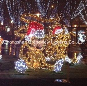 led cute mickey mouse xmas lights illumination and decorations - Mickey Mouse Christmas Lights