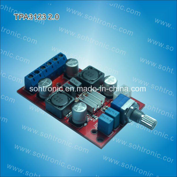 Tpa3123 Class D Mini Digital Amplifier Board 20W+20W