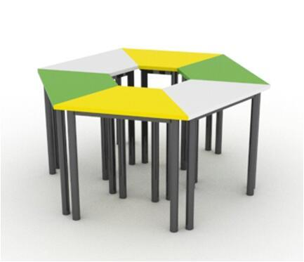 China New Design School Classroom Student Trapezoid Desk China
