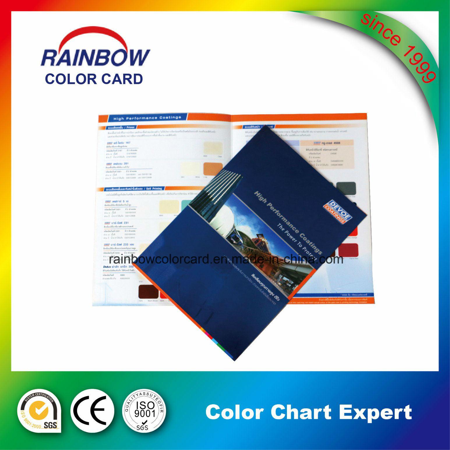 China Building Material Wall Paint Color Card Catalog China