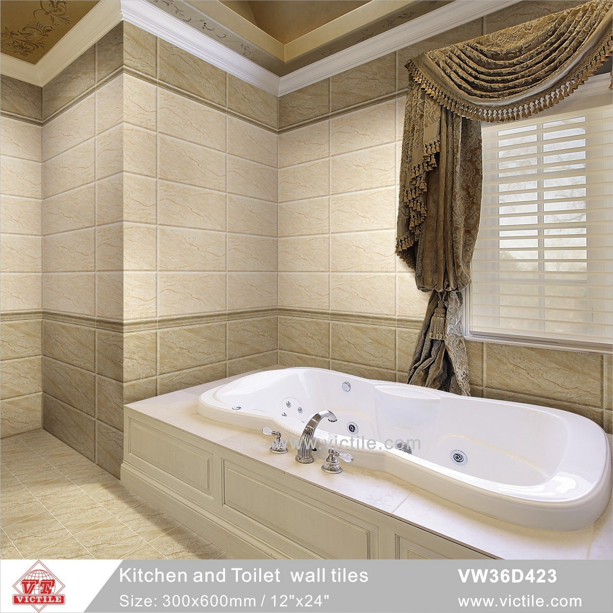 Hot Item Foshan Building Material Ceramic Kitchen Bathroom Wall Tile Vw36d423 300x600mm 12 X24