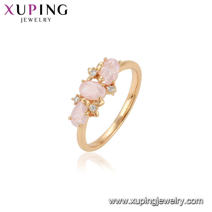 China Latest Gold Ring Design Different Shape Pink Ice Stone Finger ...