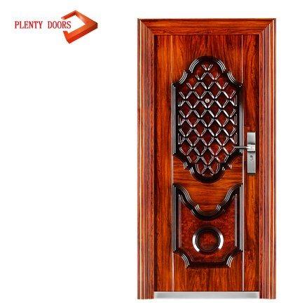 China Industrial Steel Front Door Designs Srilanka With Polyurethane