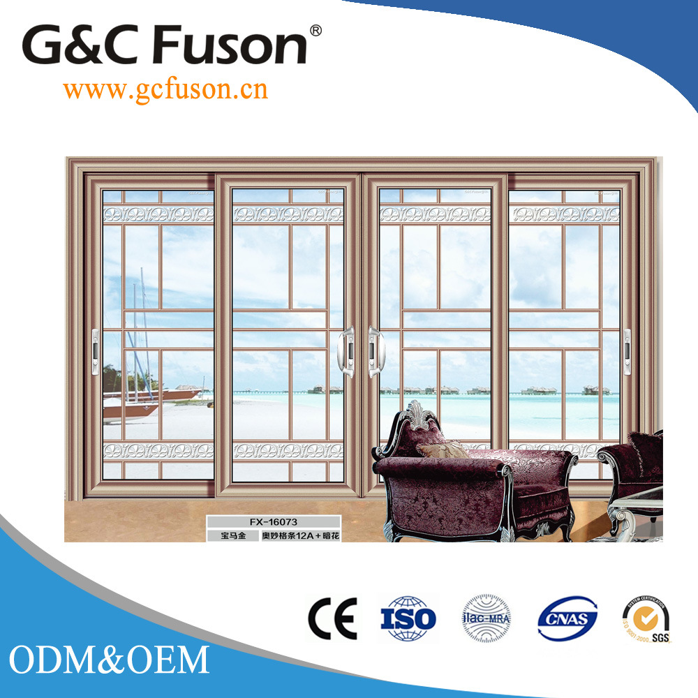Chinese Pvc Interior Sliding Door Wood Color Front Garage Exterior