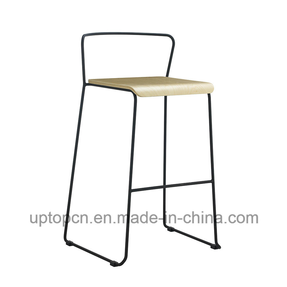 Bentwood Bar Stools With Chrome Legs