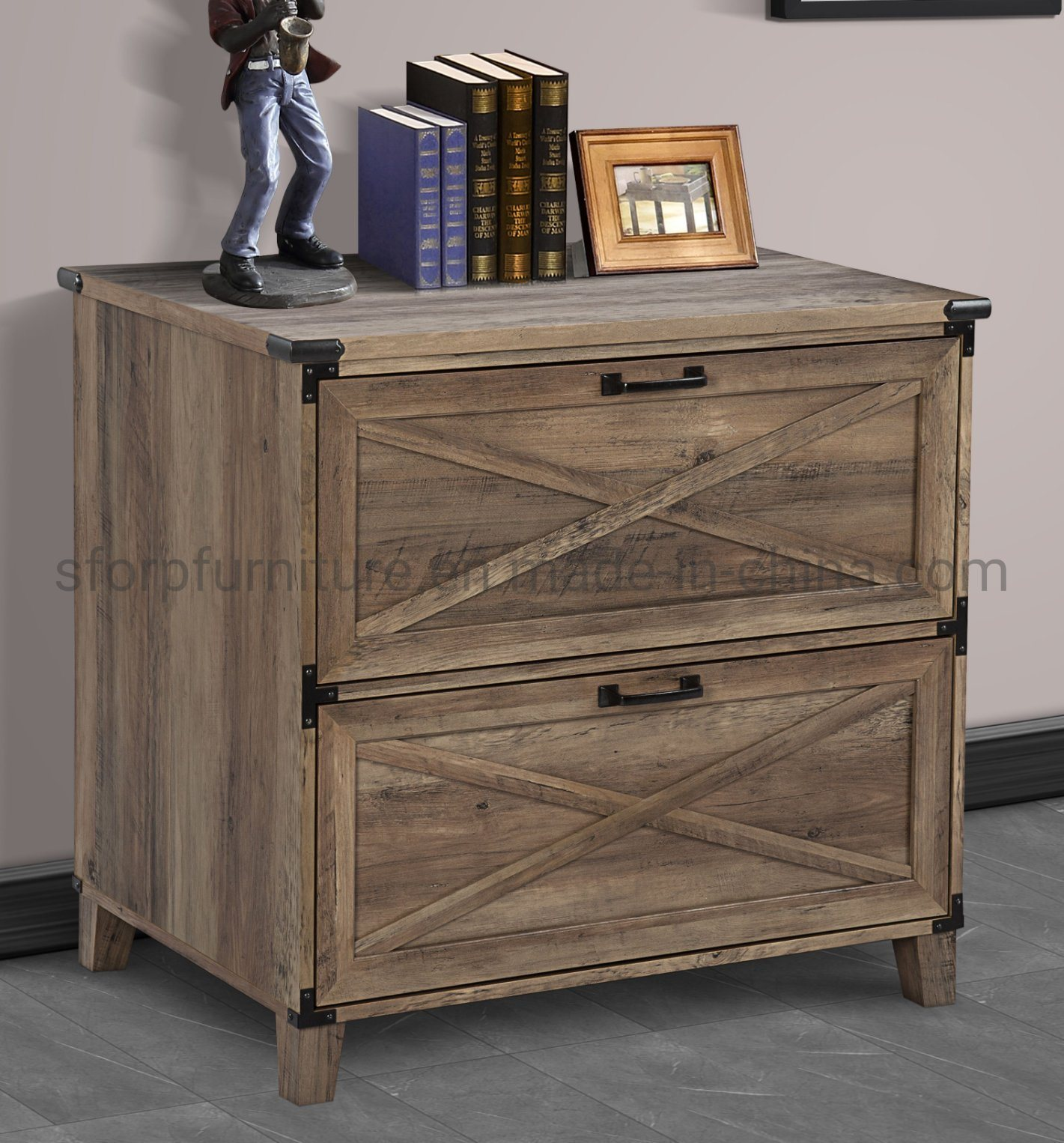 Home Office Furniture Wooden Rustic Oak