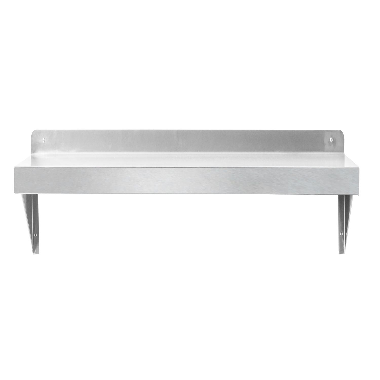 - China Stainless Steel Wall Shelf With Backsplash, 12 X 36