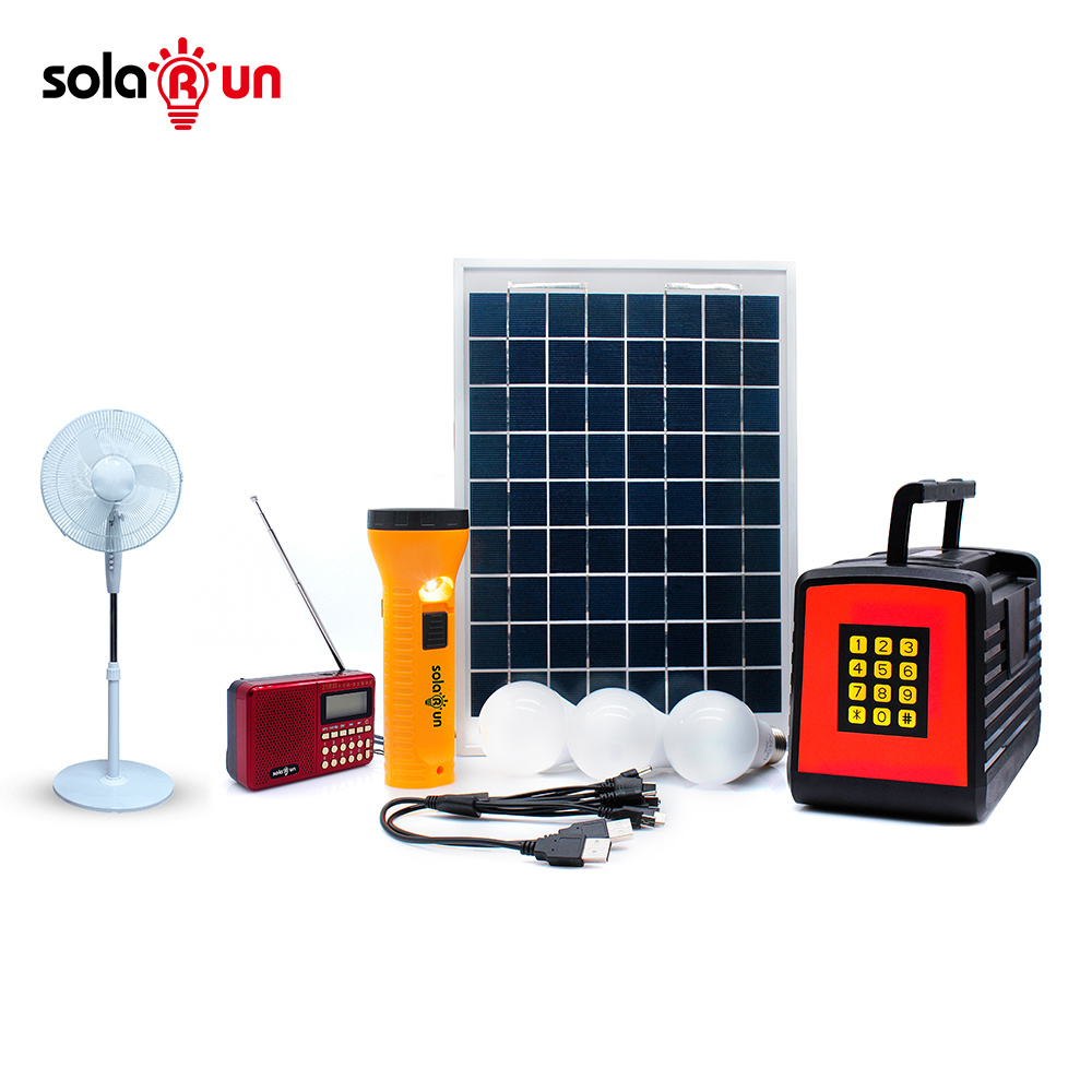 China Prepaid SMS Mode Pay as You Go Solar Home Lighting Kit with ...