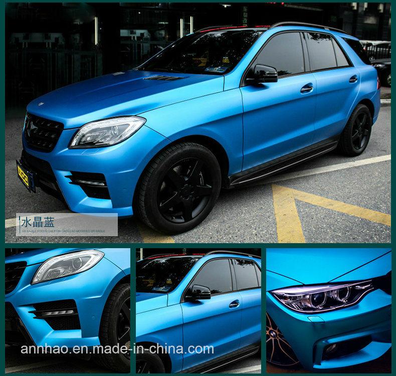 Matte Blue Car >> Hot Item New Arrived 1 52 X 18m Matte Chrome Metallic Blue Car Vynil Wrap