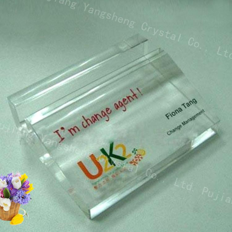China Wholesale Folk Art Crystal Business Card Holder Place Card ...
