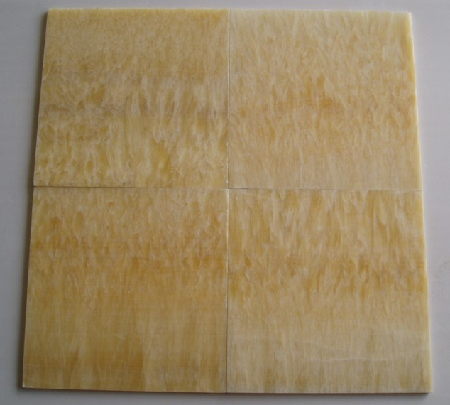 China Natural Marble Translucent Yellow Color Honey Onyx Bathroom