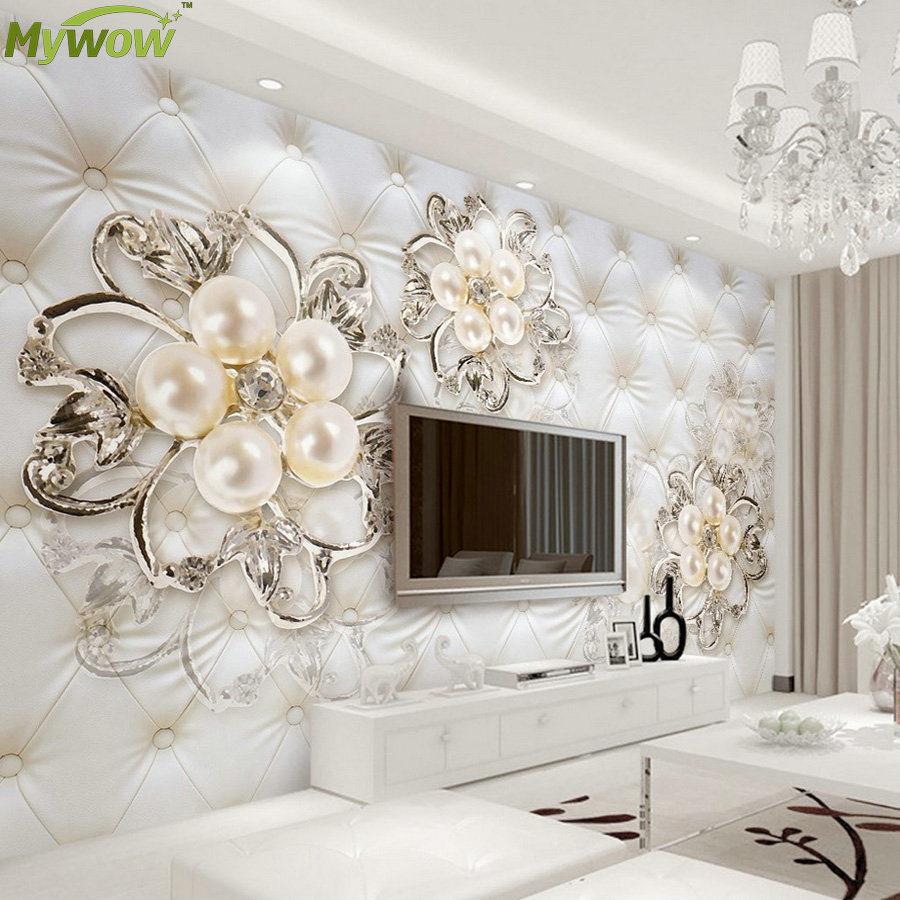 China Silk Fabric Wall Paper 3D Custom Wallpaper Mural