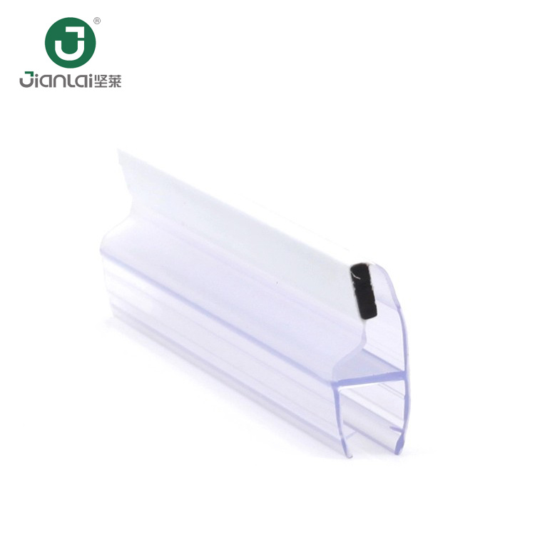 China Popular Factory Shower Glass Door Pvc Black Magnetic Strip