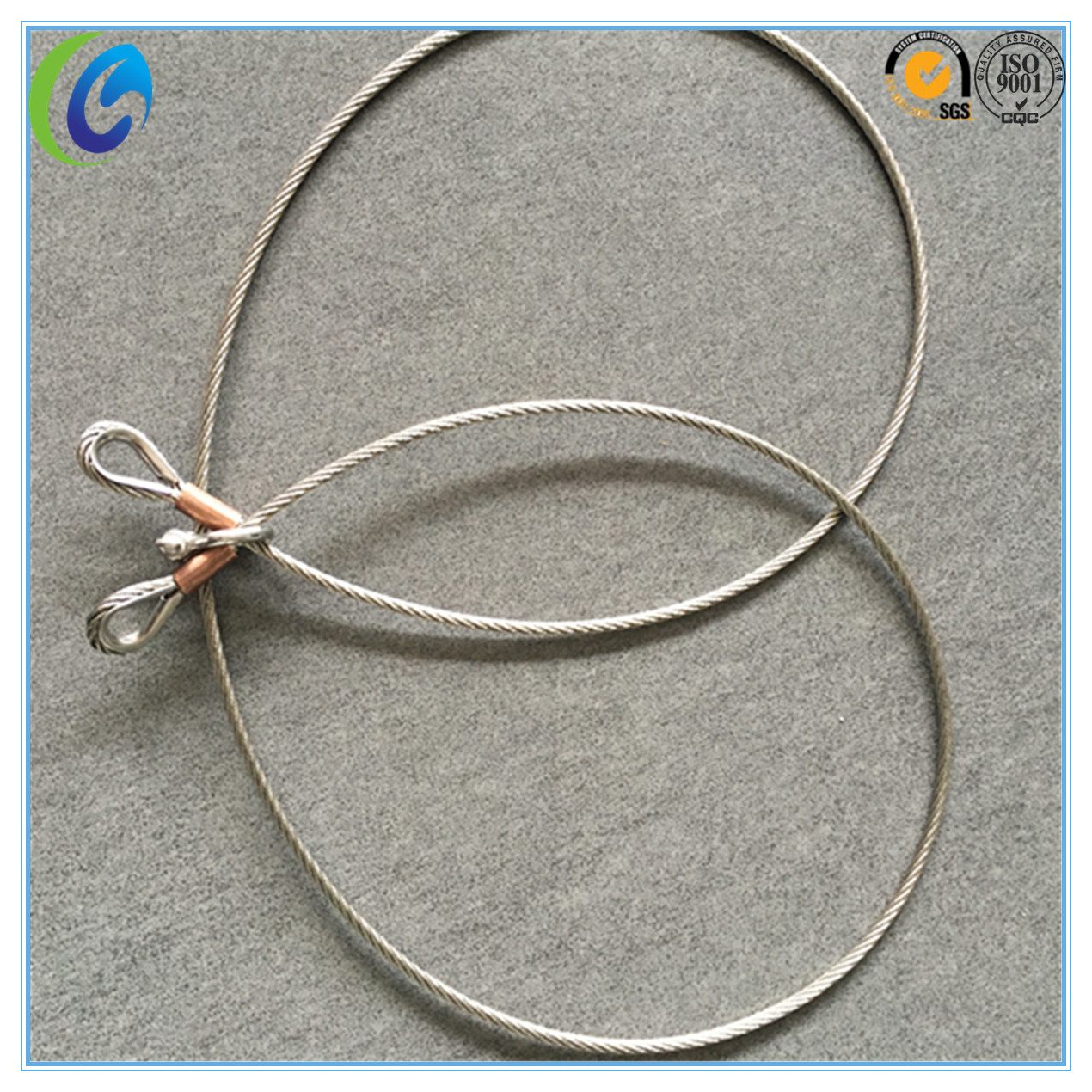 China Stainless Steel Wire Rope Slings with Copper Ferrule Photos ...