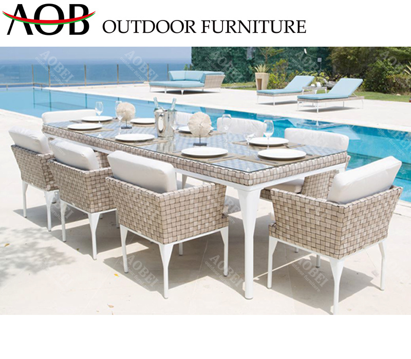 China Modern Outdoor Garden Patio Hotel, Modern Outdoor Dining Sets For 8