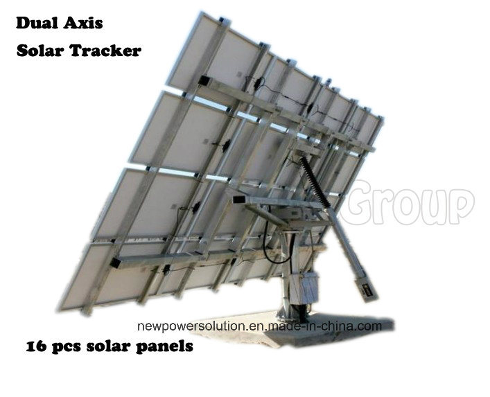[Hot Item] American Best Selling Automatic Two Axis Solar Tracker System of  Whole Kit