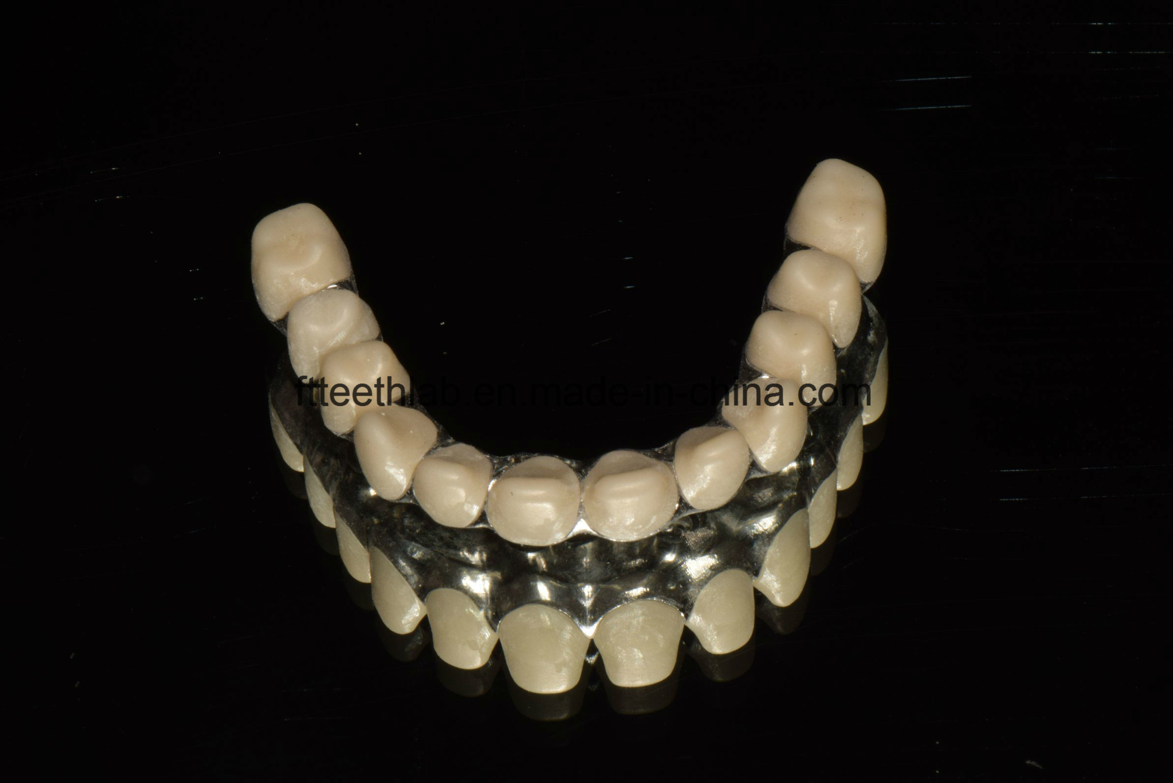 Dental Malo Bridge with Zirconia Crowns From China Dental Lab