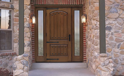 China Solid Wood Quality Exterior Rustic Front Doors For Hotel Villa China Front Door Design Solid Hardwood Doors