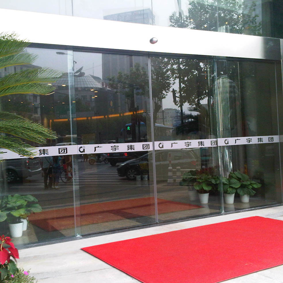 Low Noise Automatic Door, Stainless Steel Frame Sliding Glass Door
