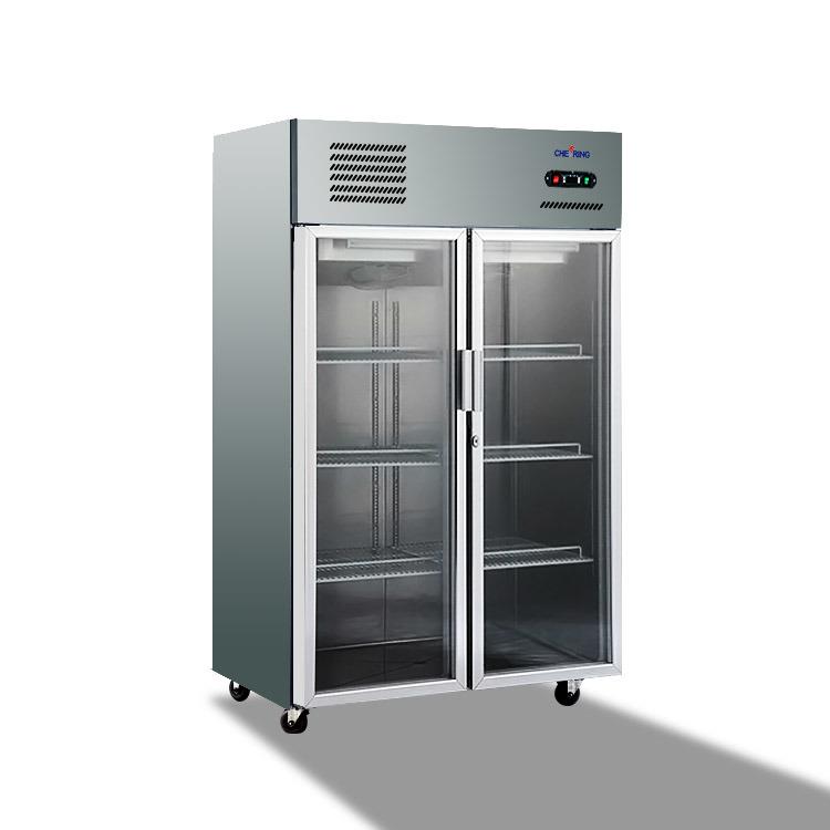 China 2 Glass Door Restaurant Commercial Equipment Stainless Steel
