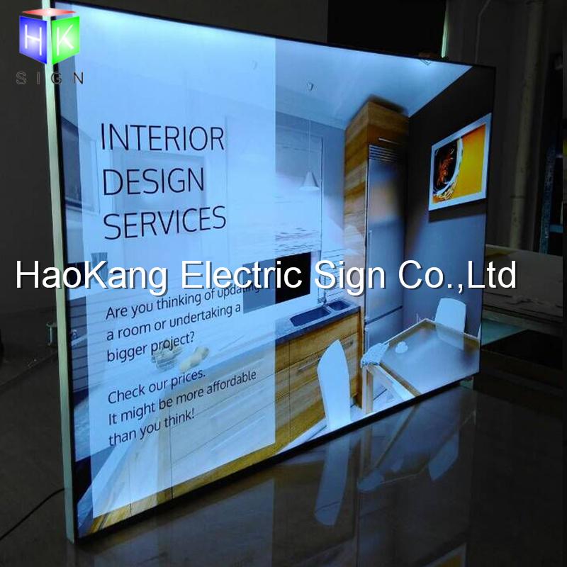 China Backlit Fabric Poster Frame Aluminum Slim LED Light Box for ...