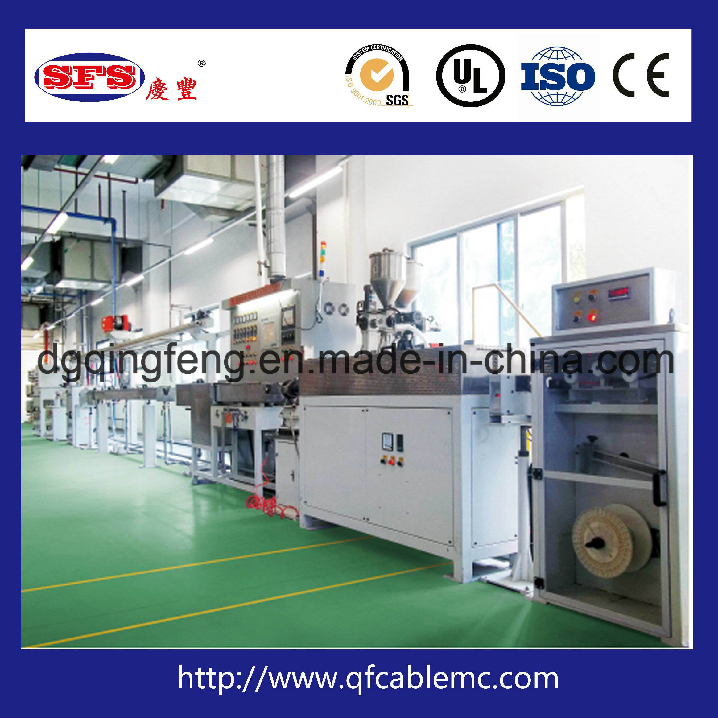 China PTFE High Temperature Wire/Cable Extrusion Line for Wire and ...
