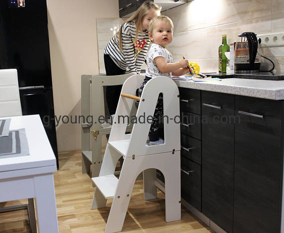 China Kids Folding Step Stool Wooden Helper Tower Kitchen Helper Stool China Step Stool Step Ladder