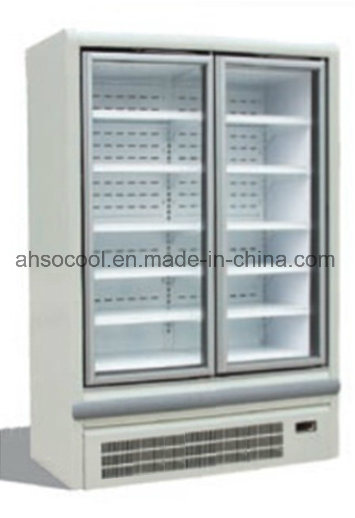 China Plug In Glass Door Commercial Freezer With Large Display