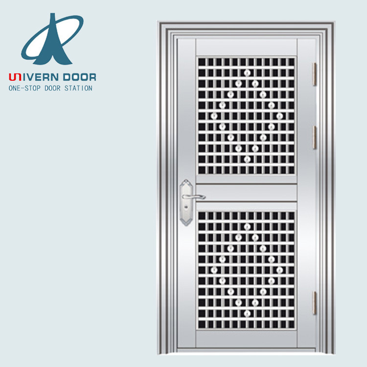 China Ss 304 Apartment Main Gate Design Stainless Steel Door - China ...