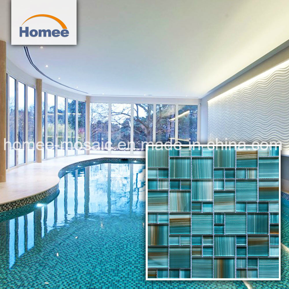 [Hot Item] Swimming Pools Green Crystal Mosaic Glass Tile