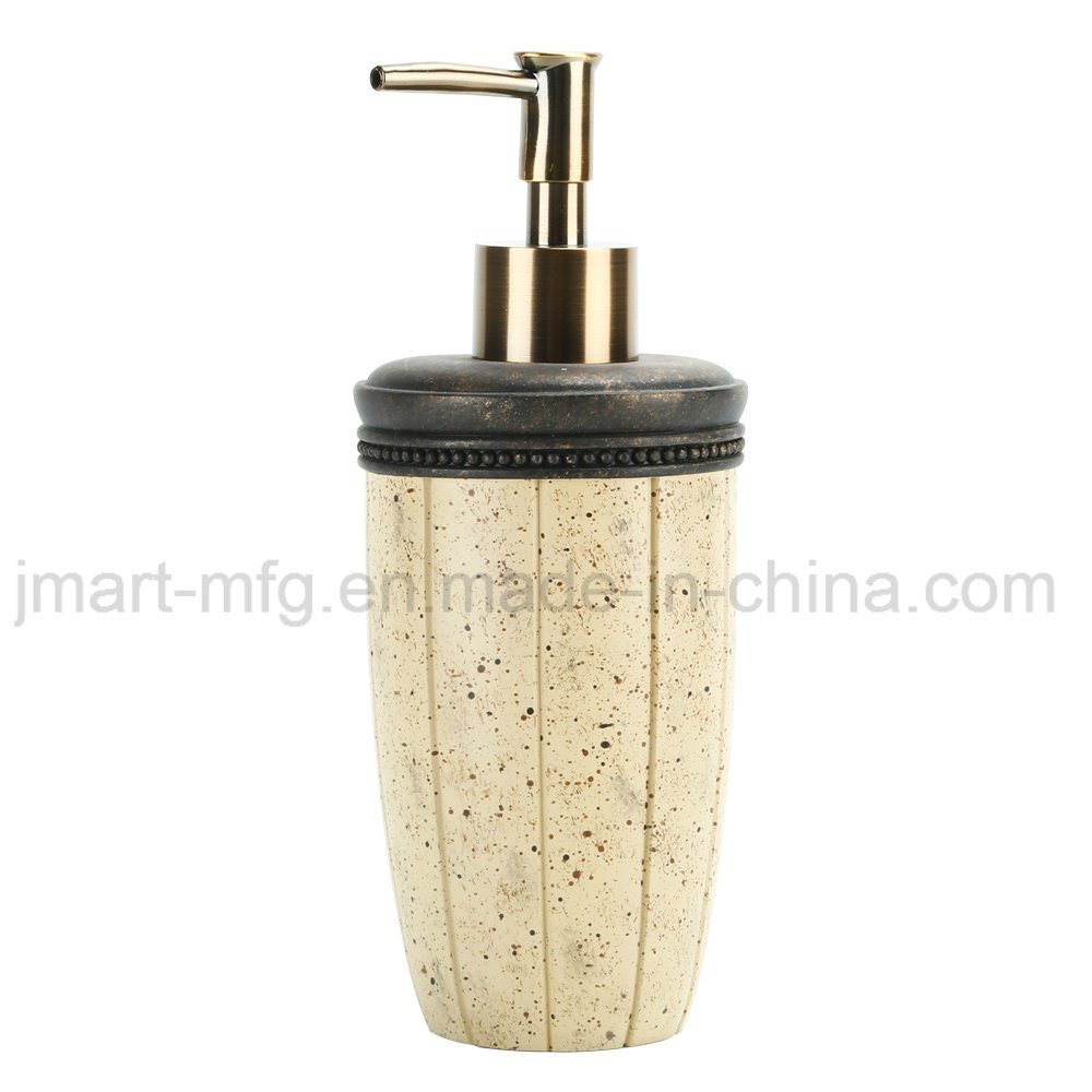 China Factory Resin Bathroom Accessories Set with Marble Stone Finish pictures & photos