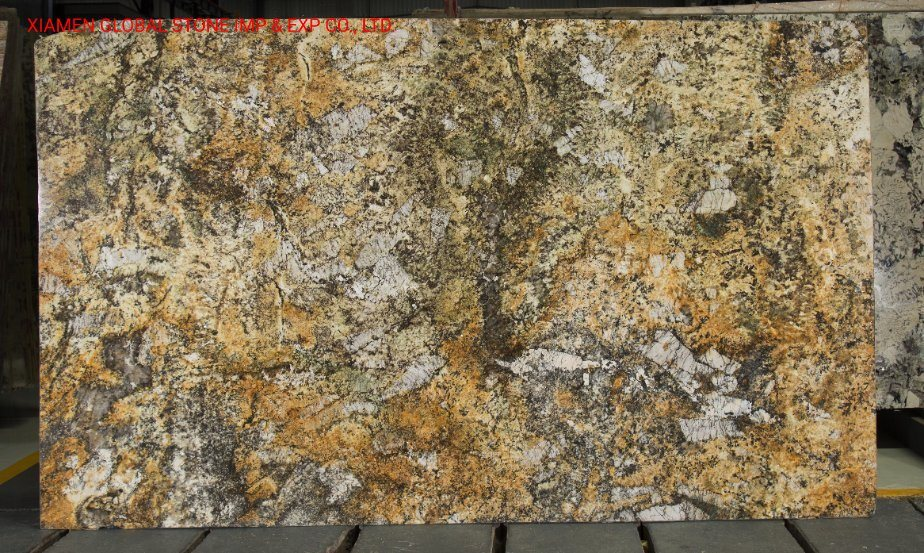 China Wholesale High Quality Fantasy Brazil Carmel Gold Granite Slabs Cut To Size Tiles For Kitchen Wall Floor Decoration China Granite Countertop Material Flooring Tile