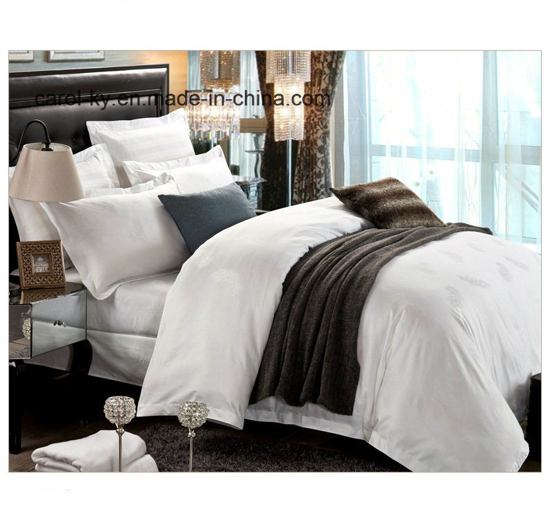 China High Quality Jacquard Hotel Bed Sheet Linen