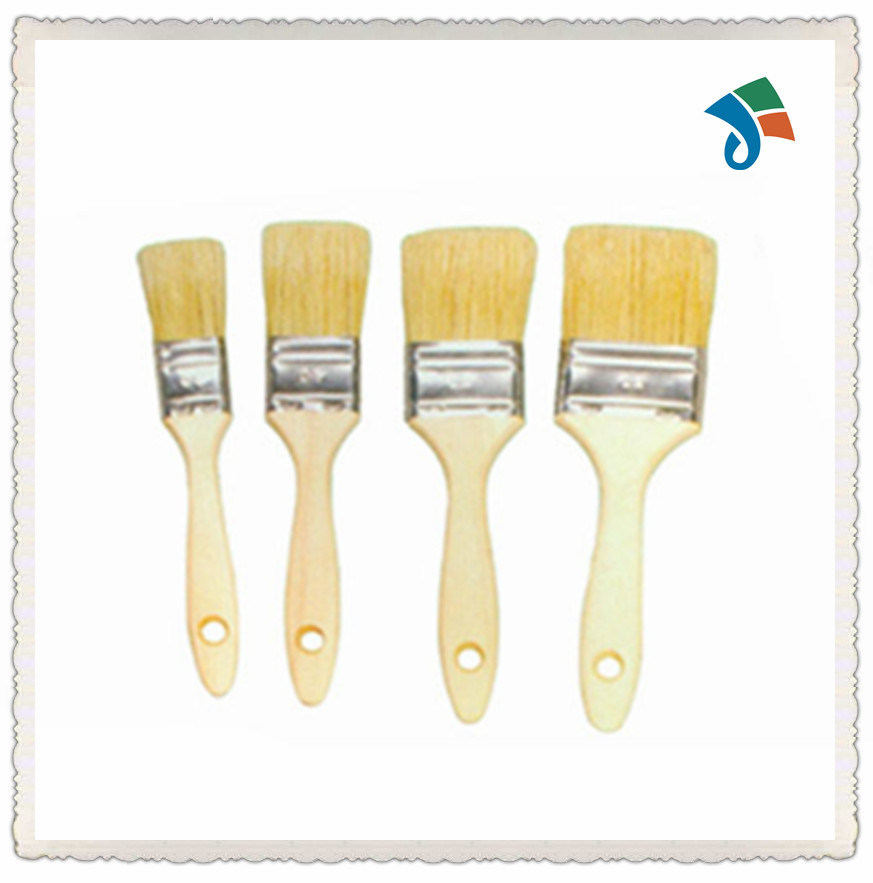 Wooden Handle Pure Natural Bristle Paint Brush pictures & photos
