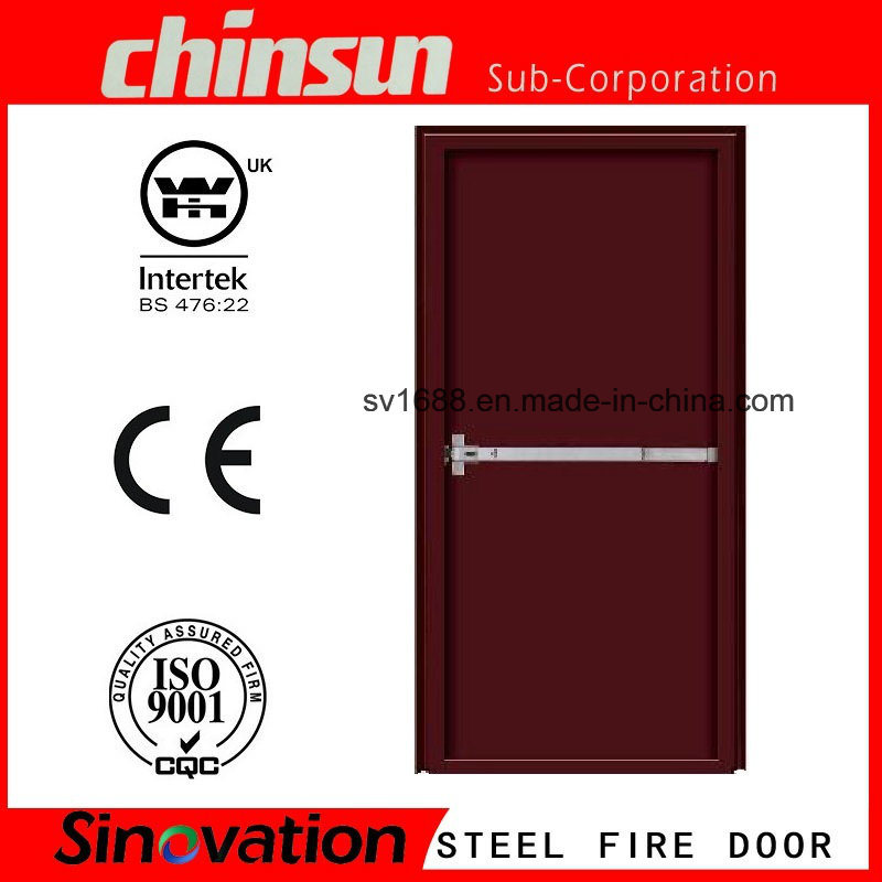 2 Hours Fire Rated Door Fire Proof Door UL Listed Fire Door with BS 476-22: 1987 and Ce Certificate