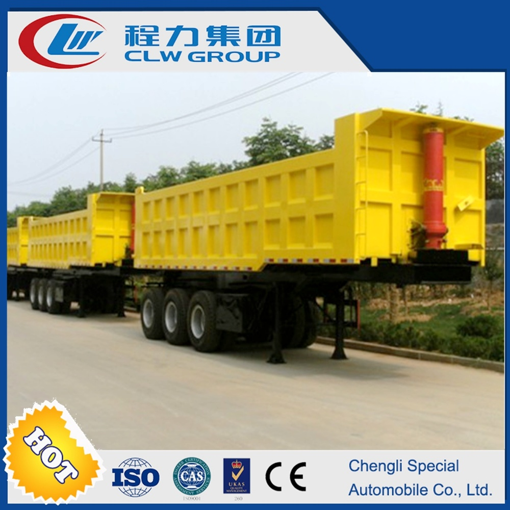 60mt Self Discharge Dumper /Tipper Semi Trailer with Tractor