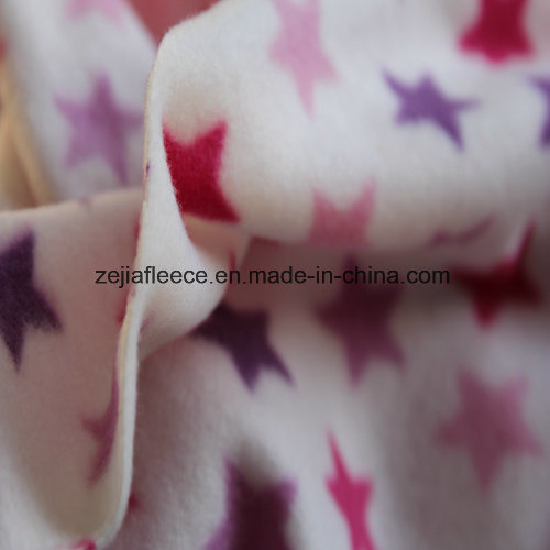 100% Polester Polar Fleece with Star Print
