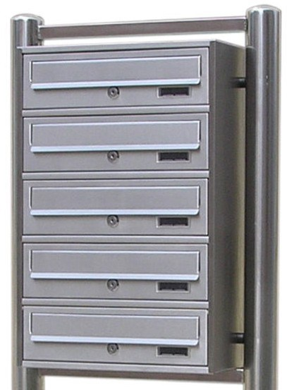 [Hot Item] Hot Sale in German Market 304 Stainless Steel Apartment Building  Mailbox 6 Boxes