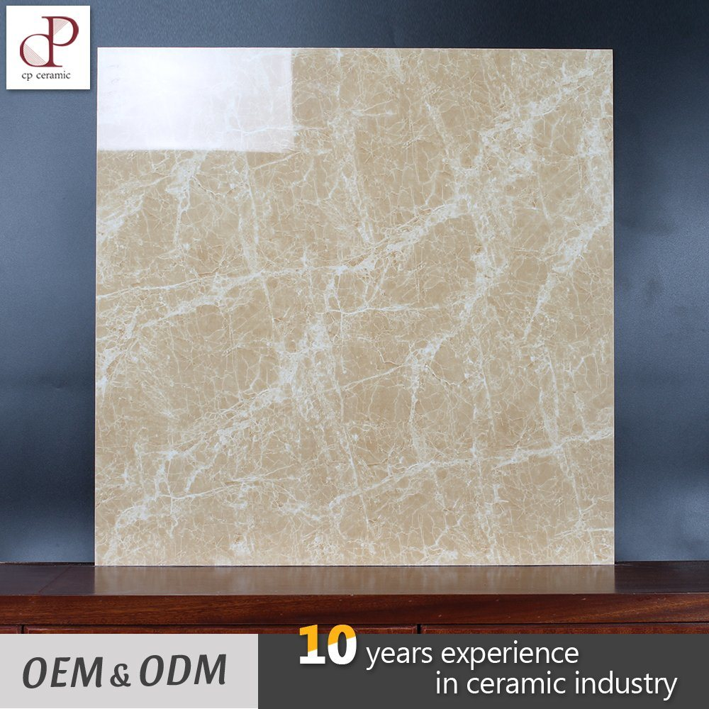 China Polished Glazed Vitrified Tiles Light Emperador Ceramic Tiles