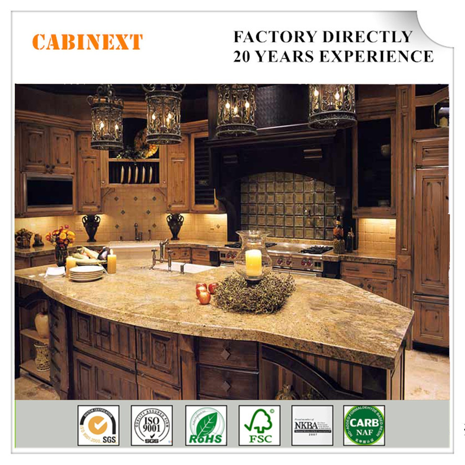 China Antique Traditional Faceframe Style Wooden Kitchen