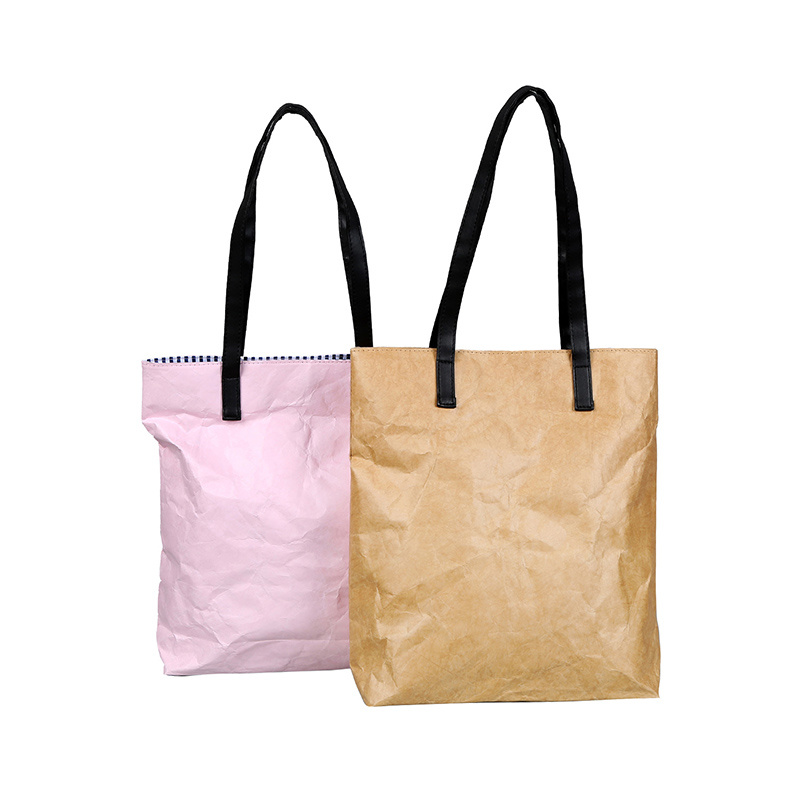 Brown Waterproof DuPont Paper Tyvek Shopping Tote Bag pictures & photos