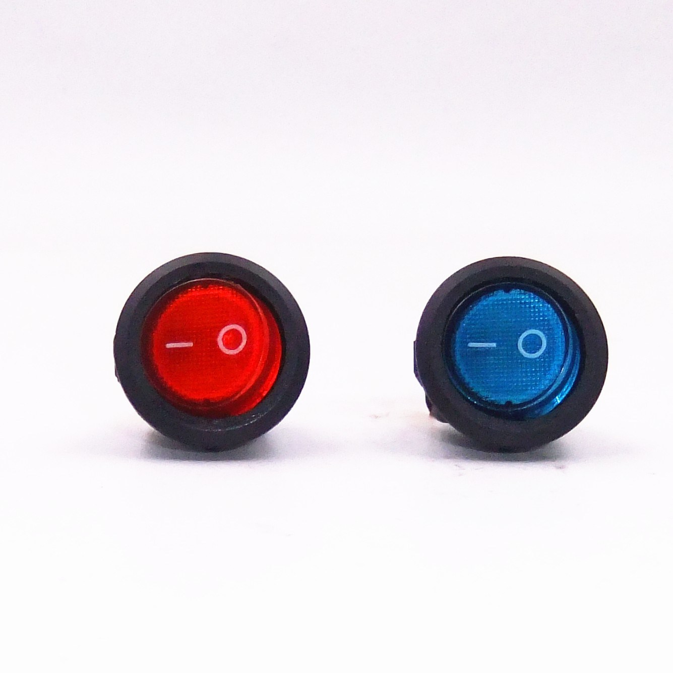 China Waterproof Push Button Switch On Off Spst 3 Pins With Led Switches Indicator Light Rocker