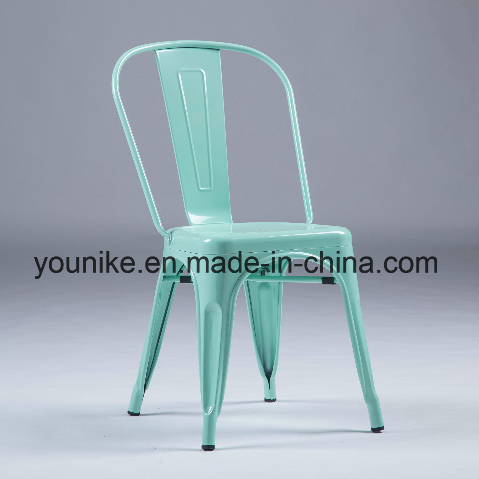 China Industrial Modern Metal Tolix Dining Chairs Stackable