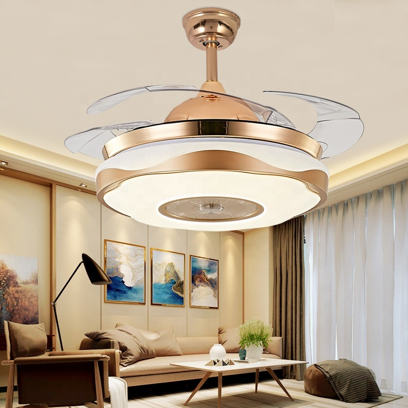 China Decorative Invisible Ceiling Fan Light With Hidden Blades Remote Control For Living Room China Led Fan Ceiling Light Ceiling Light