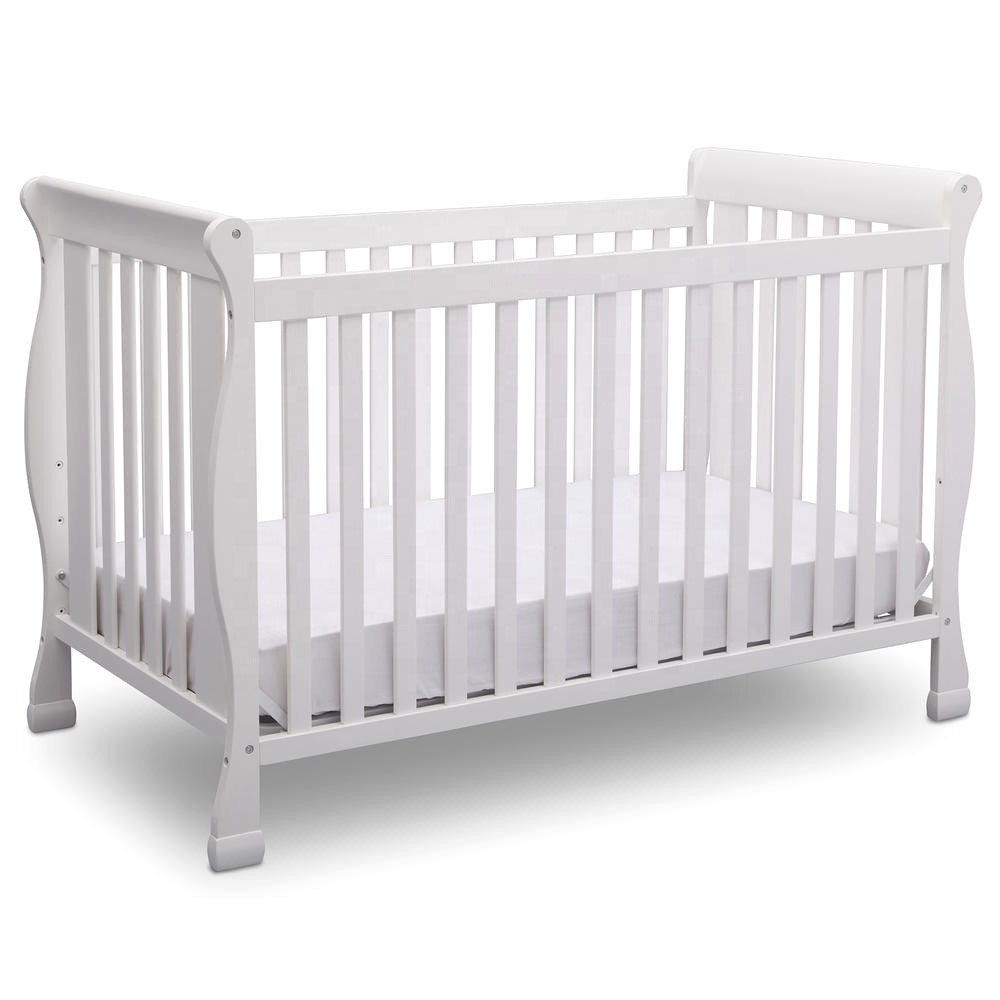 China Modern Style White Baby Crib Cot Bed Convertible Nursery Furniture China Kids Bed Bedroom Furniture
