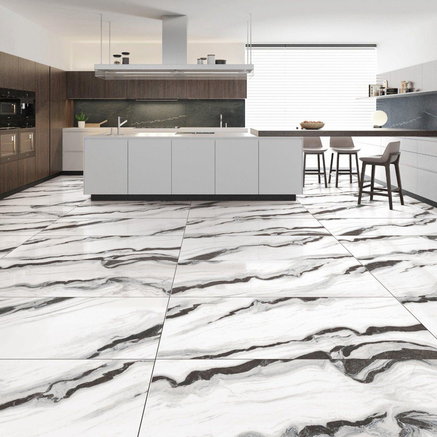 China 9X9mm Large Format White Polished Porcelain Flooring ...