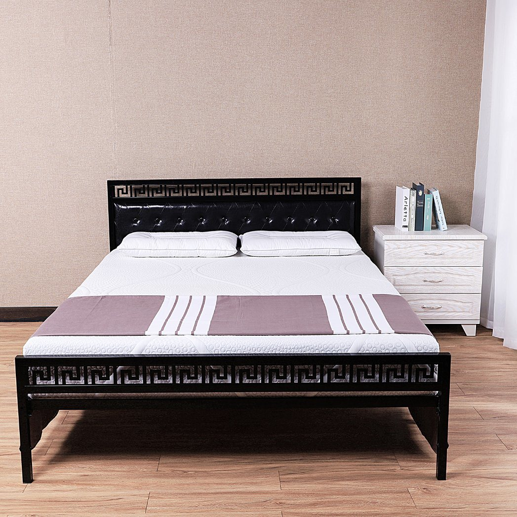 China Modern Wrought Iron Metal Frame Bed Sturdy Single Iron Bed Bedroom Latest Design Single Steel Bed Photos Pictures Made In China Com
