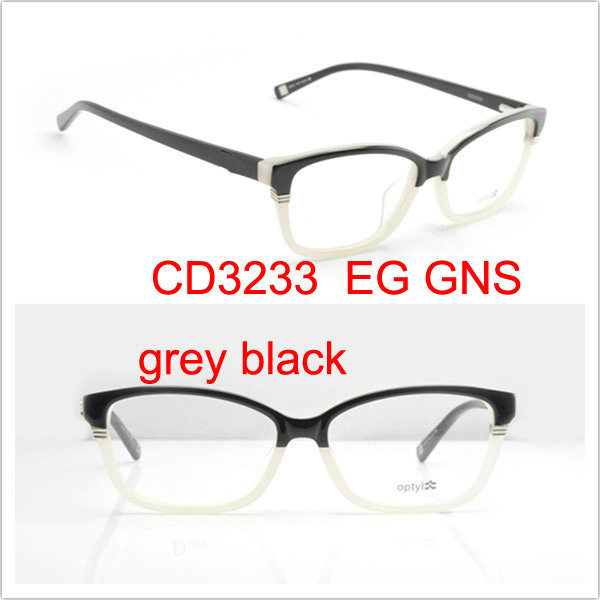 China Eye Glasses Frame, Name Brand Eyeglasses CD3233 GNS Grey Black ...