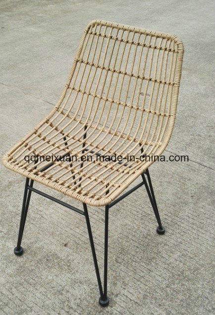 Cane Makes up Chair Metal Chairs Outdoor Plastic Rattan Cane Porch Furniture Wholesale Deck Chairs (M-X3549)