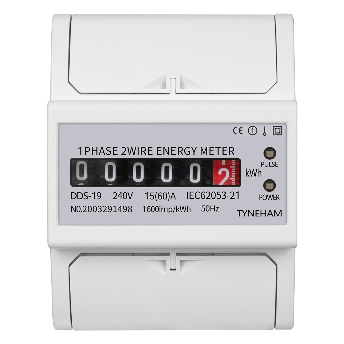 China 2 Dds 19r Din Rail Single Phase Two Wire Register Energy Meter China Din Rail Single Phase Register Energy Meter